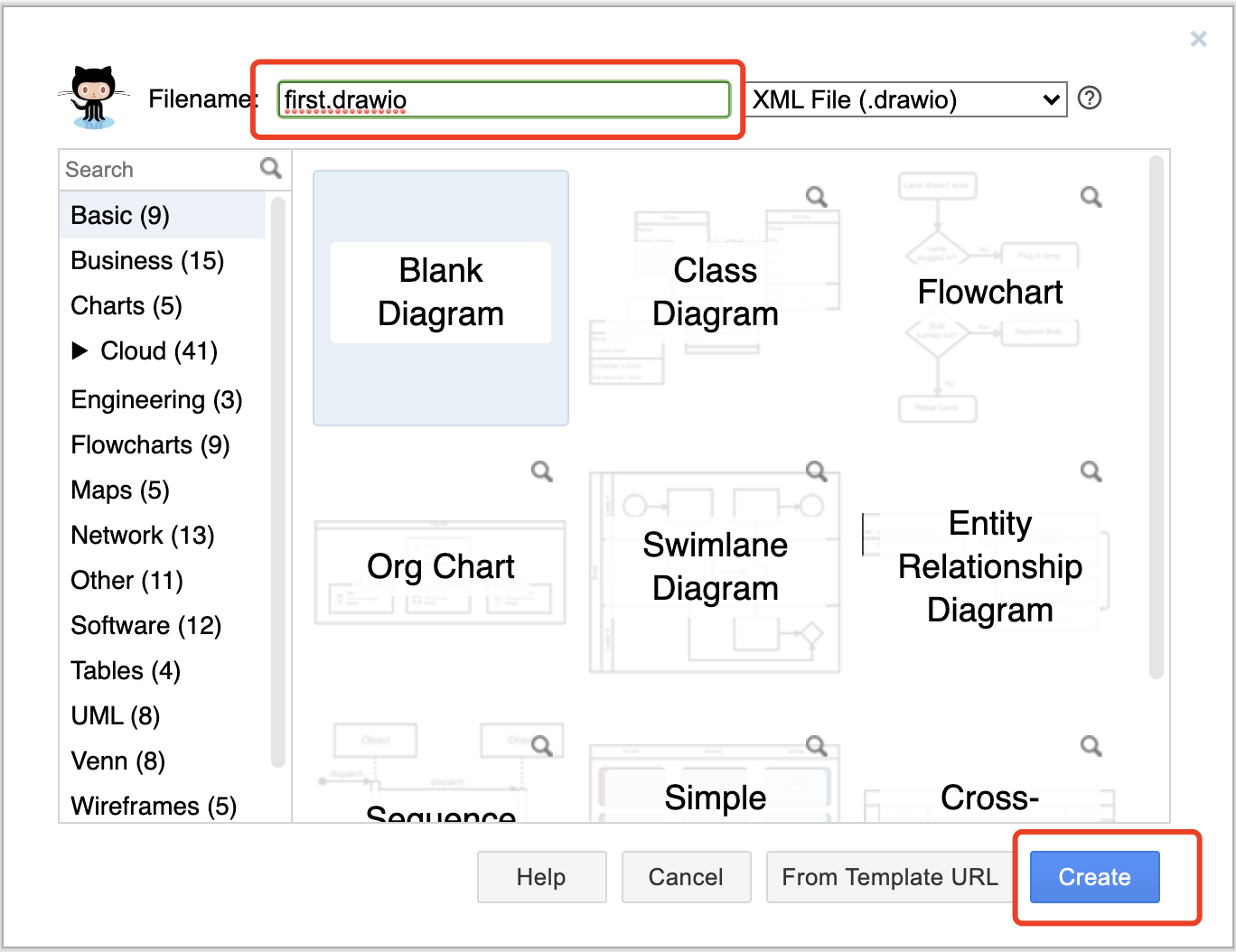 DrawIO Create Graph